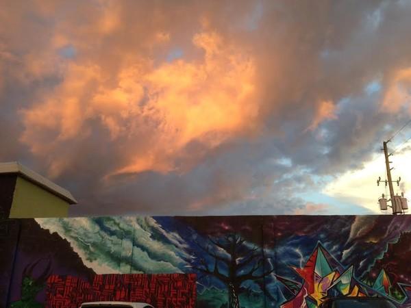 Sunset Over Mural