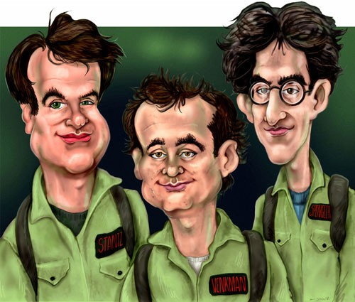 Ghostbusters (1984) - Caricature Art