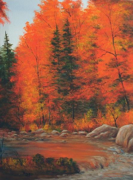 2005-32HaC 18x24 Autumn Stream DSC02849