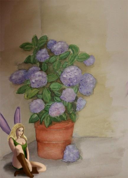 Hydrangea and Fairy