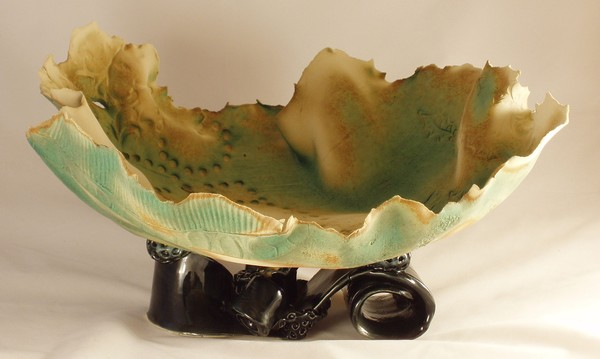 Copper Pitna Bowl with funkey legs