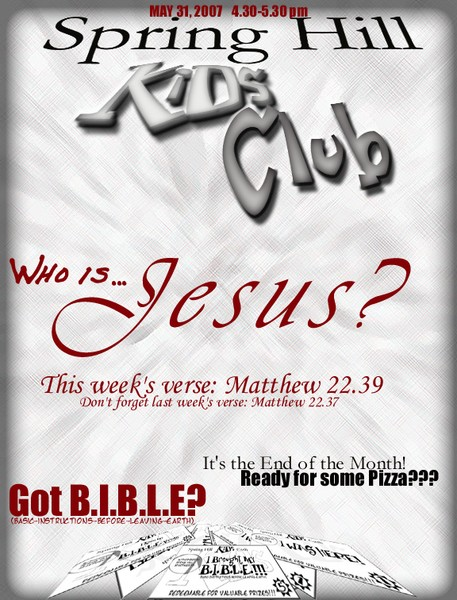 Spring Hill Apartment Ministry flyer