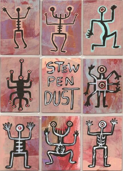 Stew-Pen-Dust ATC'S