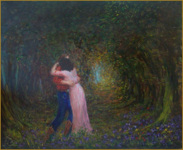 Lovers in woodland
