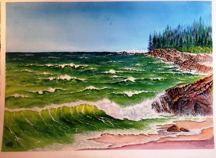 Ocean waves rocks ver 2