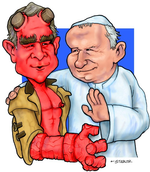 Hellboy George and the Pope