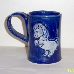 Child's Cobalt Blue Hot Chocolate Mug