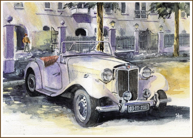 MG sports car of the fifties