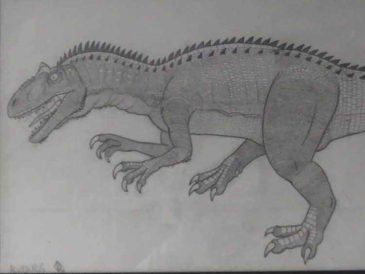 Allosaurus detail