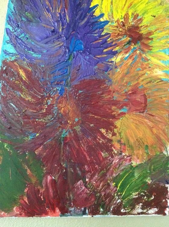 Sun flowers multicolor