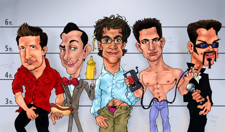 The Masturbators - Caricature Art