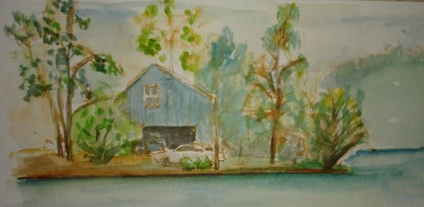 Sketchbook Series:  Lake House
