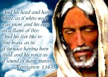 Jesus: Revelation 1:14-15