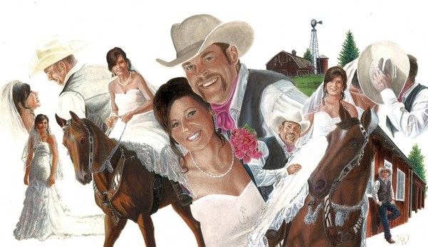 Colored Ink Wedding