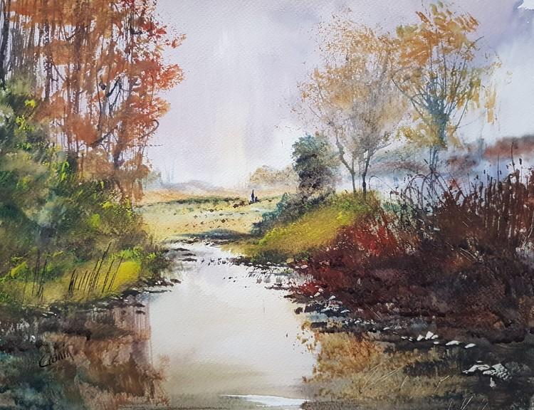 'Peace & Quiet' Watercolour Painting