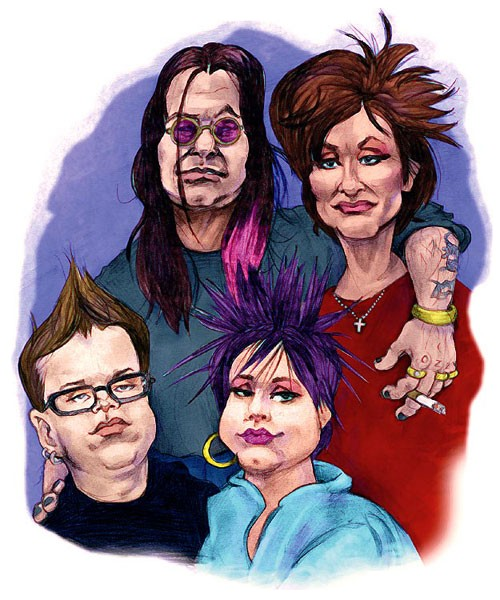 MTV's The Osbournes - Caricature Art