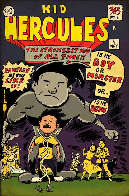 Kid Hercules Hulk Tribute