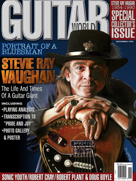 SRV on Guitar World magazine