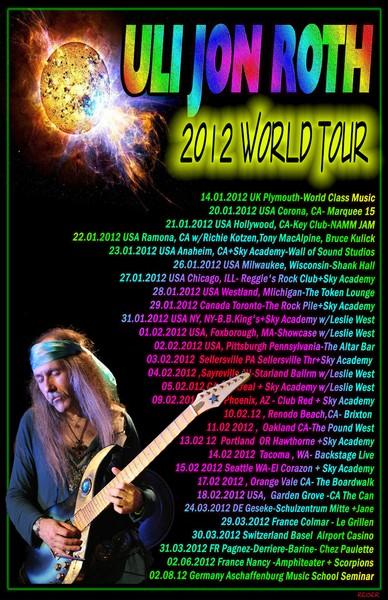 Uli Jon Roth Tour Poster