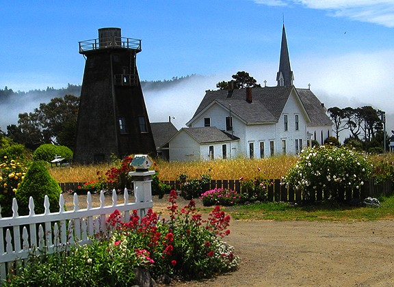 Mendocino Church & Water Tower