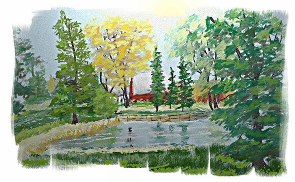 Pond and Farm