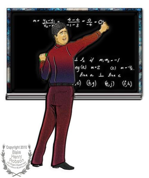 Math Teacher at Chalkboard