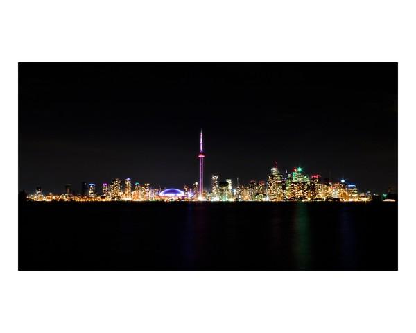 Toronto Skyline At Night From Centre Island