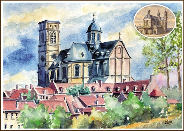The baroque abbey-basilica of Grimbergen