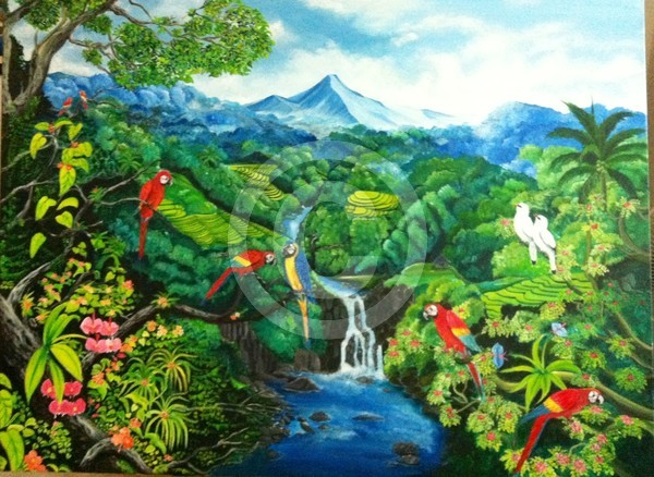 Bali Landscape(120X90cm)