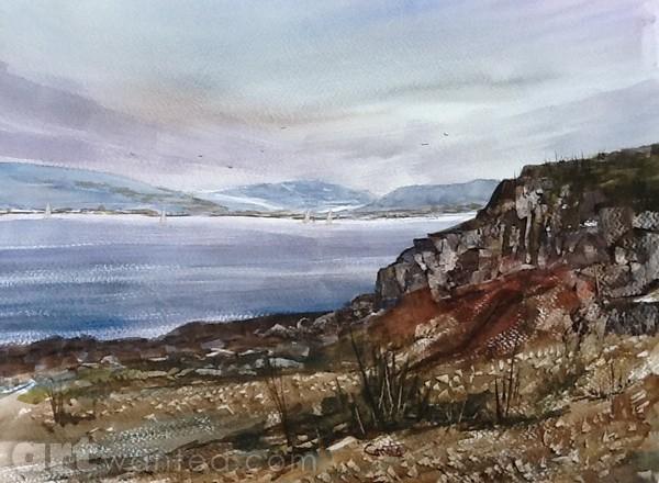 Inverkip Shore. Scotland