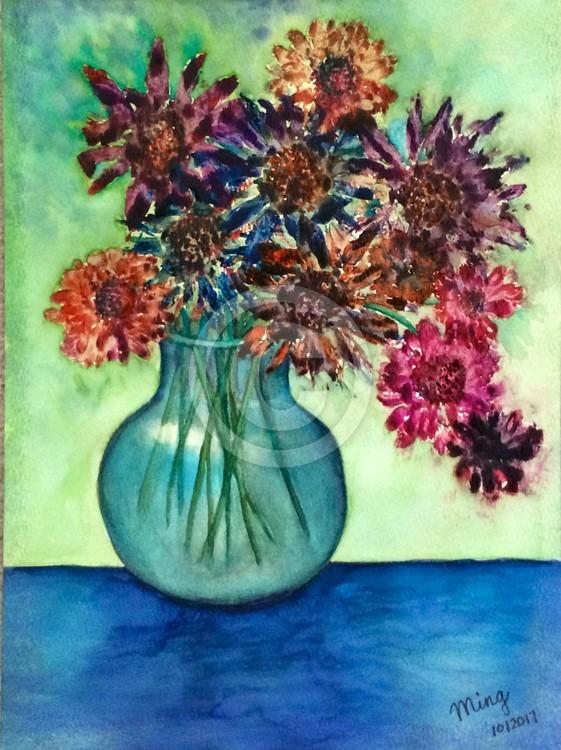 Dry flowers in the vase