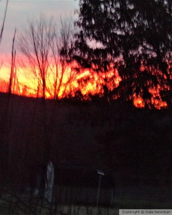 Clarksville Sky on Fire
