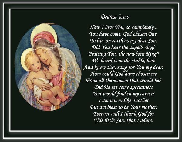 Dearest Jesus....