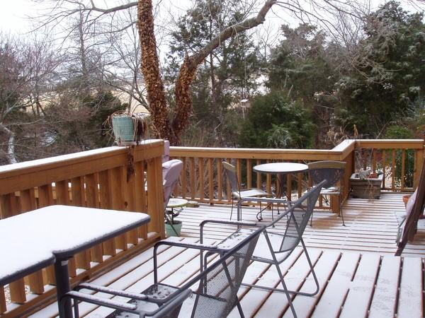 Back Deck Snow