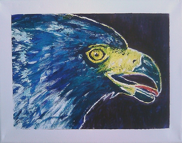 Crested Serpent Eagle Painting