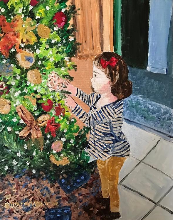 Teresa & Christmas Tree