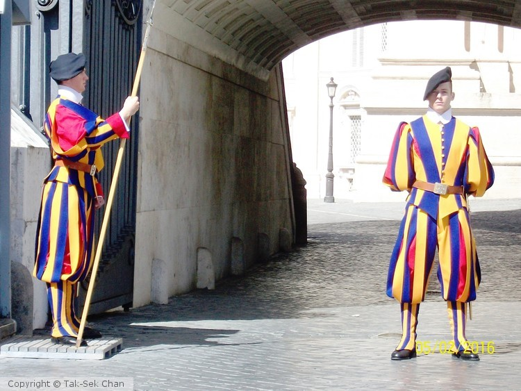 Swiss Guards, Vatican, May 2, 2016