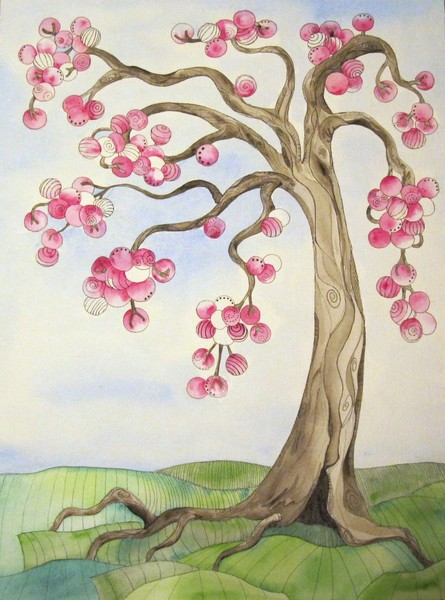 Whimsical Pink Tree