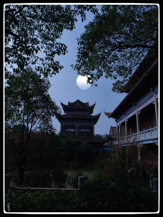 Temple in Moonlight