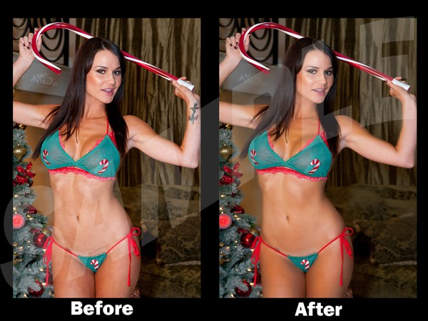 Model Retouch Example Before & After