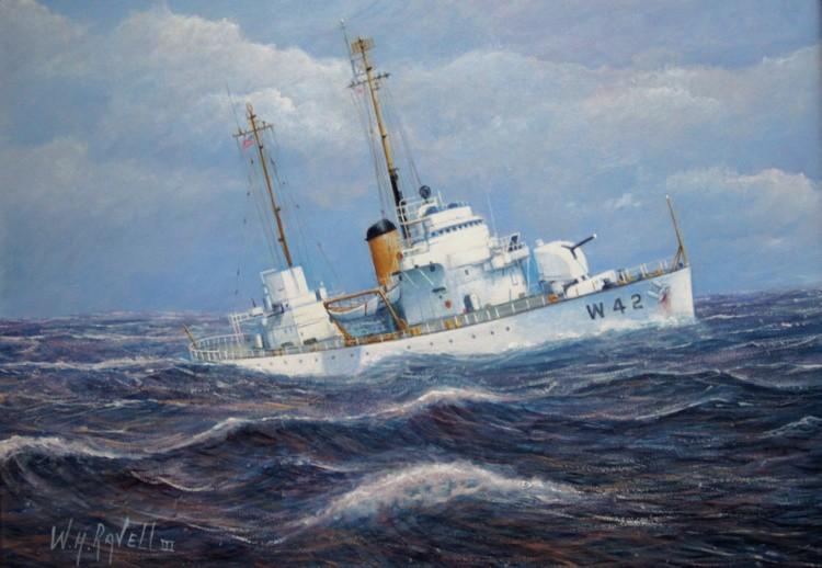U. S. Coast Guard Cutter Sebago Takes A Roll