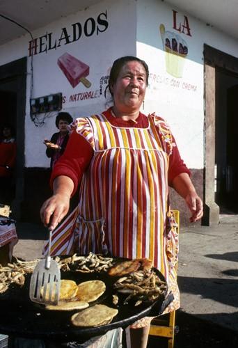 Tortilla maker, Patzcuaro, Mexico