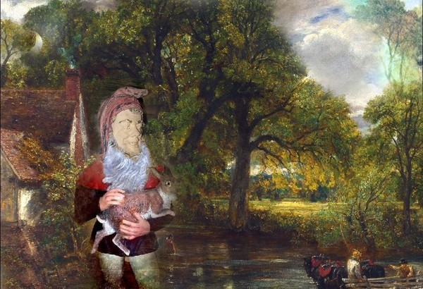 CONSTABLE'S NATURE SPIRIT LOOKING AFTER A HARE
