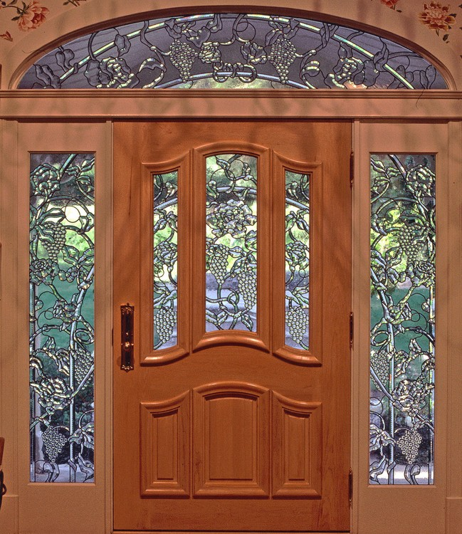 A Kalidescopic Napa Valley Beveled Glass Entryway