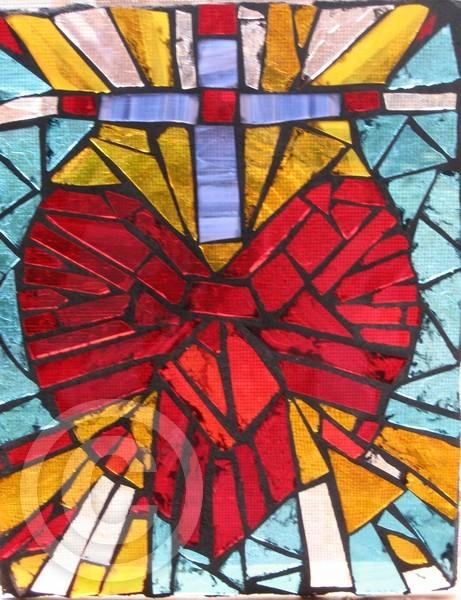 SACRED HEARTMOSAIC GLASS