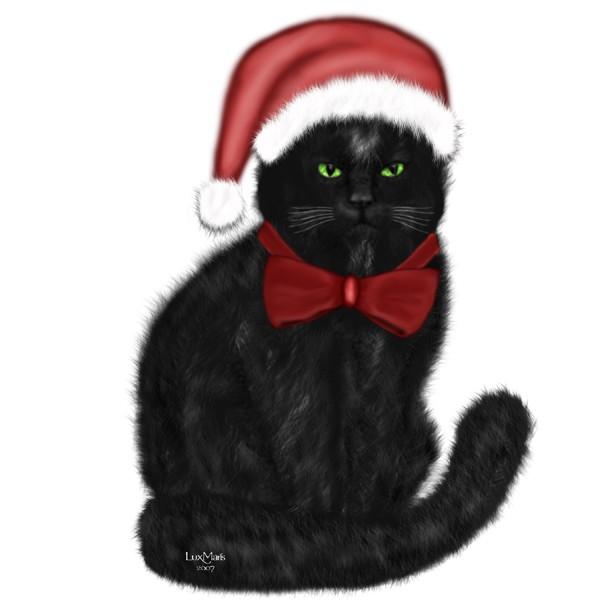 Christmas Cat Isabeau