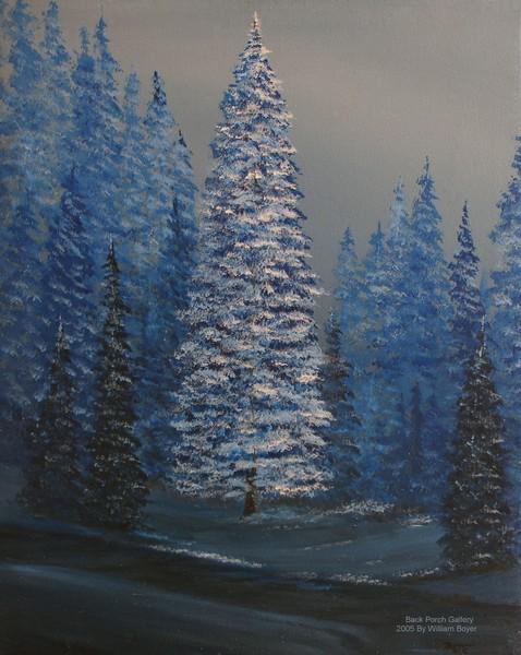 2005-35 Winter Pine 22x28 canvas