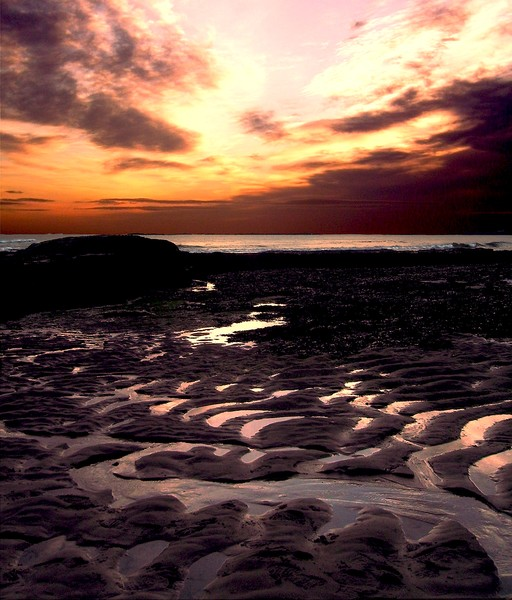 Ripples In The Sand At Dawn