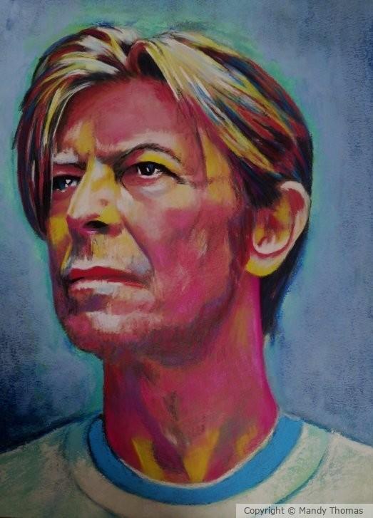 David Bowie Thinking by Mandy Thomas