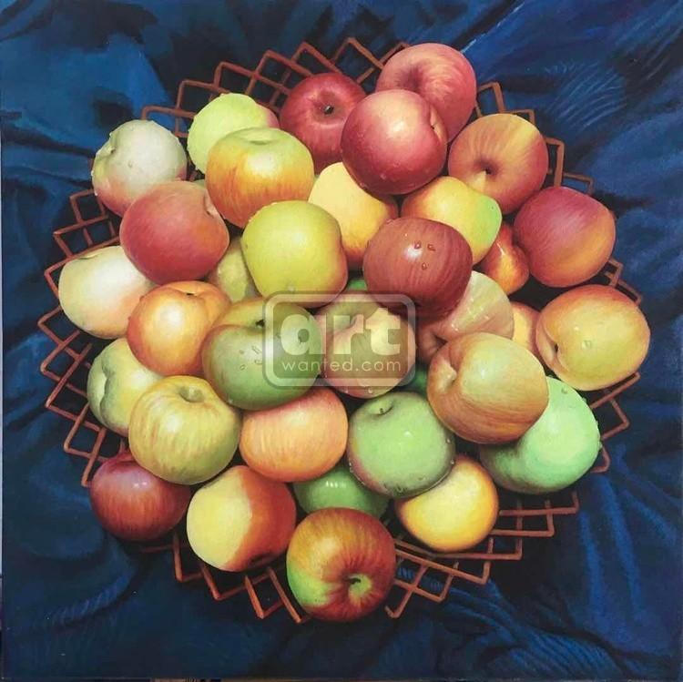 «Apple» oil painting on canvas,